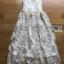 Lady Amanda Pure White and Gold Tulle Dress thumbnail 7