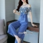 ชุดจ๊มสูทเกาหลีเสื้อผ้าชีฟองจั้มทรงปล่อย thumbnail 9