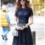 Lace Dress เดรสผ้าลูกไม้สีน้ำเงินเข้มทรงเบสิก thumbnail 7