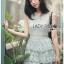 Ruffle Grey Lady Ribbon Lace Dress thumbnail 5