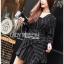 Black Mini Dress Lady Ribbon มินิเดรสผ้าเครปสีดำ thumbnail 4