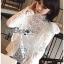 เสื้อผ้าคอตตอนสีขาวทรงคอสูงฉลุลาย thumbnail 4