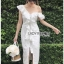 Elegant Middle Lady Ribbon Cotton Dress thumbnail 1