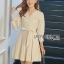 Bianca Sweet Feminine Pastel Lace and Cotton Mini Dress thumbnail 4