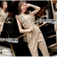 Lady Janet Ruffle Beige Gold Jumpsuit thumbnail 3