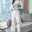 เซ็ทเสื้อ+กางเกงเกาหลีเสื้อผ้าไหมซาติน thumbnail 2