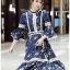 Chiffon Ruffle Maxi Dress เดรสยาว thumbnail 2