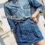 Lady Sarah Street Chic Denim Shirt Dress thumbnail 4