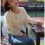 White Lace Blouse เสื้อแขนยาวผ้าลูกไม้สไตล์เบสิก thumbnail 6
