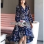 Lady Monica Floral Patterned Printed Wrap Dress thumbnail 3