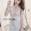 Lady Anna Feminine Sexy White Lace Dress thumbnail 2