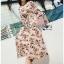 Chiffon Dress with Flower Belt thumbnail 1