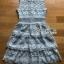 Grey Lace Dress Lady Ribbon ขายเดรส thumbnail 7