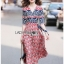 Lady Jane Red and Navy Printed Kimono Dress thumbnail 1