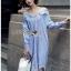 Lady Helena Off-Shoulder Shirt Dress thumbnail 3