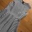 Chic Asymmetric Lady Ribbon Striped Dress thumbnail 7