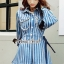 เซ็ทลุคสาวเกาหลี ทรงเสื้อสูทแต่งปกโค้ง ทรงคอบัว thumbnail 4