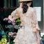 Lady Ribbon Lace Mini Jumpsuit จัมป์สูท thumbnail 4