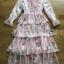 Lady Jill Printed Layered Pink Chiffon Dress thumbnail 7