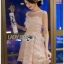 Lady Caitlyn Old-Rose Feather Cocktail Dress thumbnail 5