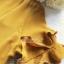เดรสลุคสาวเกาหลีโทนสีเหลืองมาสตาร์ด thumbnail 10