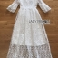 Princess White Lace Maxi Dress thumbnail 6