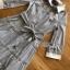 Shirt Dress with Ribbon เชิ้ตเดรสลายทางปักลาย thumbnail 5