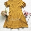 เดรสลุคสาวเกาหลีโทนสีเหลืองมาสตาร์ด thumbnail 8