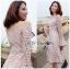 Off-Shoulder Lady Ribbon Lace Dress thumbnail 3