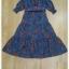ชุดเดรสดอกผ้าพื้นสีน้ำเงิน thumbnail 6