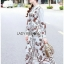 🎀 Lady Ribbon's Made 🎀 Lady Babara Wild Printed White Shirt Dress thumbnail 5