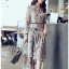 Blossom Layered Chiffon Lady Shirt Dress thumbnail 5