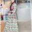 Lady Fancy Colourful Lace Maxi Dress thumbnail 1
