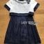 White Silk Cotton Dress Lady Ribbon เดรสผ้าซิลค์ thumbnail 7
