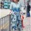 Lady Danielle Feminine Elegant Floral Printed Polyester Dress thumbnail 4