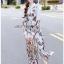 🎀 Lady Ribbon's Made 🎀 Lady Babara Wild Printed White Shirt Dress thumbnail 6