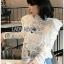 Laser-Cut Cotton Blouse เสื้อผ้าคอตตอนสีขาว thumbnail 1
