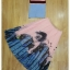 ผ้าไหมสีฟ้าทอลายริ้วสีชมพูตัดดำสวย thumbnail 6