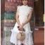 Lady Ellie Fancy Ruffle White Lace Dress thumbnail 4