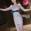 Lady Vanessa Soft Elegant Blue Lace Midi Dress thumbnail 3