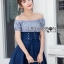 Lady Carrie Country Girl Off-Shoulder Blue thumbnail 4