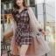 Lady Rachel Ribbon Twist Tartan Wool Shirt Dress thumbnail 1