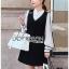 Lady Ribbon Shirt and Black Dress thumbnail 4