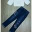 เซ็ทเสื้อ+กางเกงยีนส์ผ้ายืดคอตตอน thumbnail 6