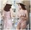 Mini Dress มินิเดรสสั้นผ้าลูกไม้สีชมพูอ่อน thumbnail 1