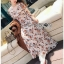 Lady Anne Autumn Flower Printed Chiffon Dress thumbnail 3