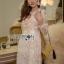 🎀 Lady Ribbon's Made 🎀 Lady Gabriella Elegant Chic Mixed Lace Dress thumbnail 2