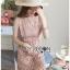 Mini Dress มินิเดรสสั้นผ้าลูกไม้สีชมพูอ่อน thumbnail 4
