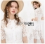 Lace Shirt Dress เชิ้ตเดรสผ้าลูกไม้สีขาว thumbnail 2
