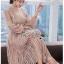 Dress เดรสผ้าลูกไม้สีเบจสไตล์วินเทจ thumbnail 3